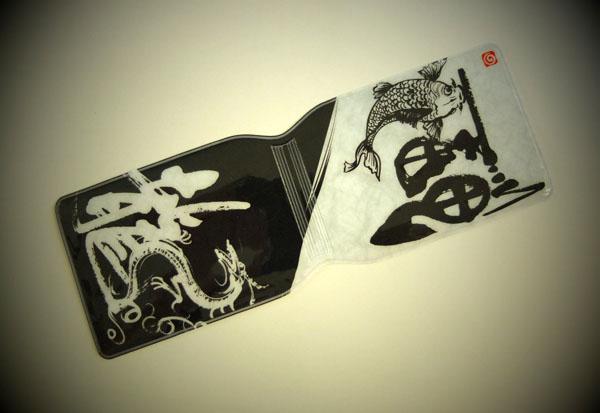 鯉と龍の絵と筆文字