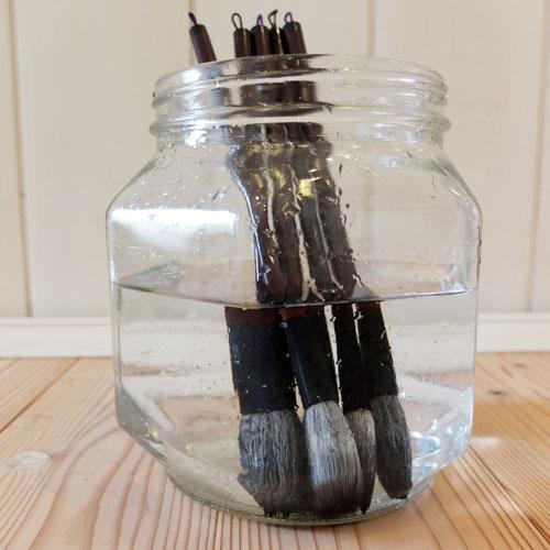 筆の洗い方8